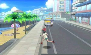 This image shows the player running around one of the games cities, showing the scale and sheer size of environments. Image Credit: Nintendo