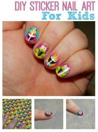 DIY {Silly} Sticker Nail Art For Kids