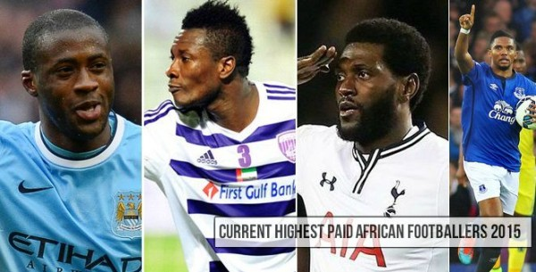 Highest paid AFrican Footballers 2015