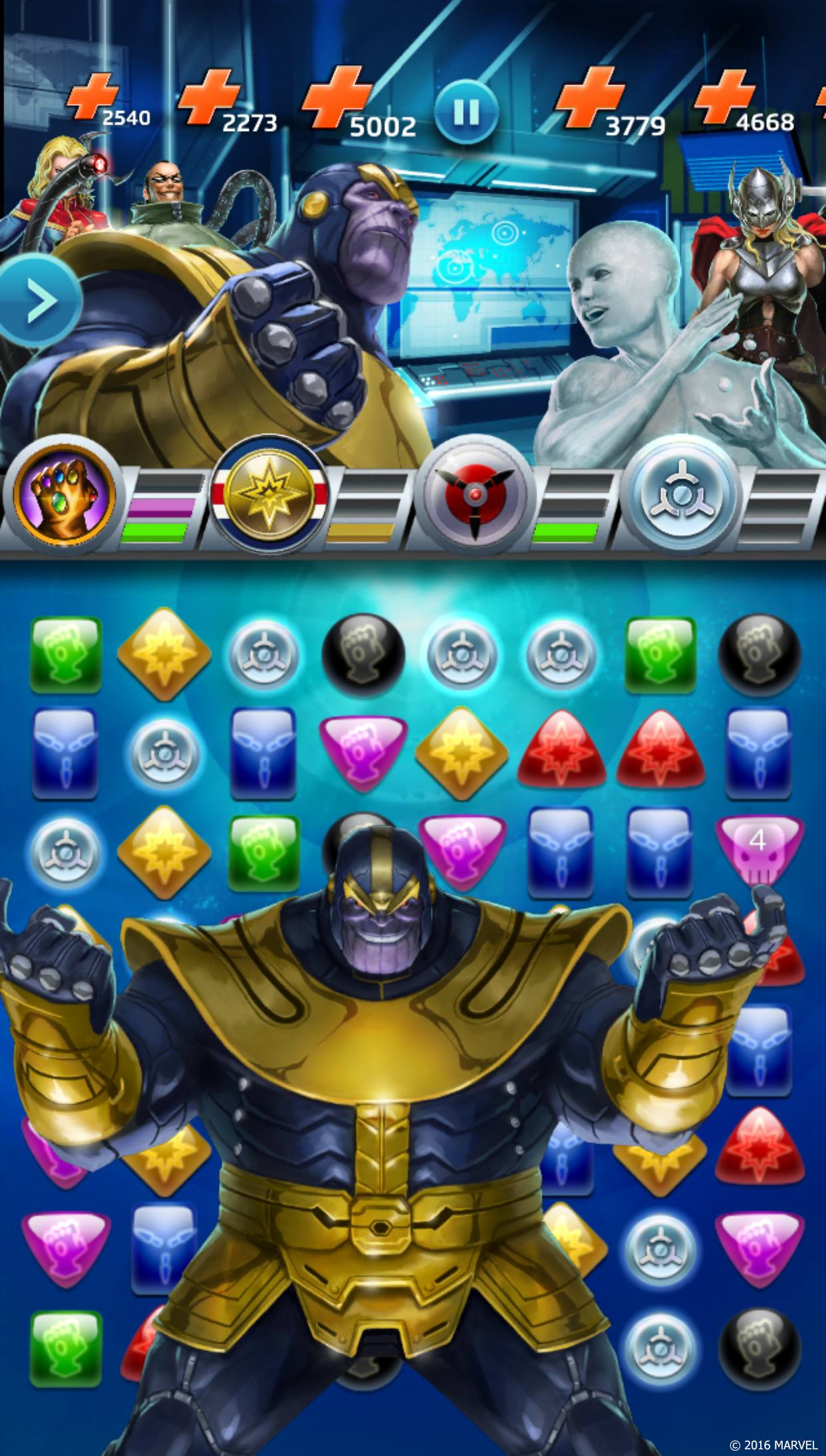 Marvel Puzzle Quest matchmaking