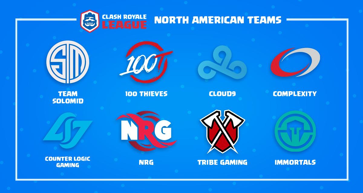 Clash Royale' League Announces First Teams Including