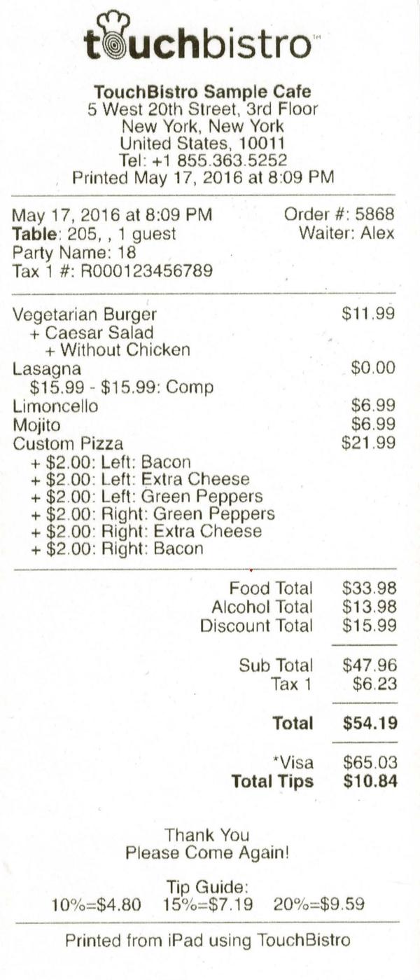 epson kitchen printer aid coupons samples - touchbistro