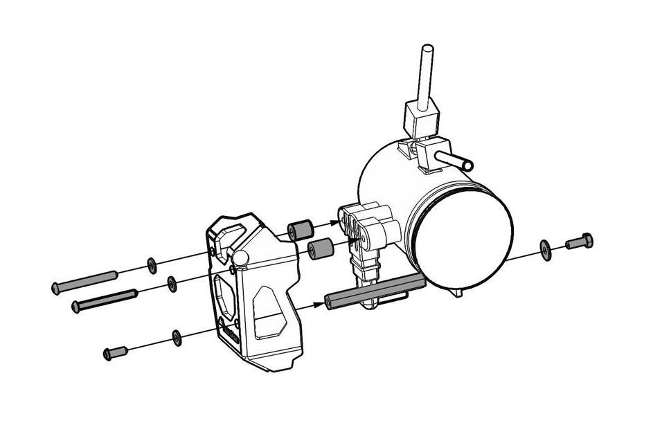 Throttle Potentiometer Guard, BMW R1200GS / ADV / R ( Oil
