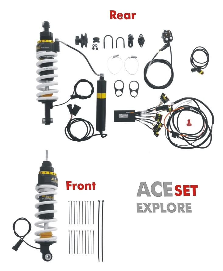 Touratech Suspension ACE Dynamic Shock Set, BMW R1200GS
