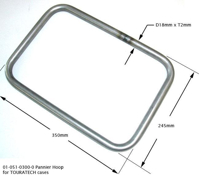 Pannier Frame (Hoop), 18MM, Steel, (Qty. 1)