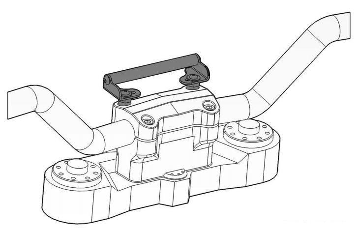 GPS Bracket Adapter, On Handlebars, Kawasaki Versys 650