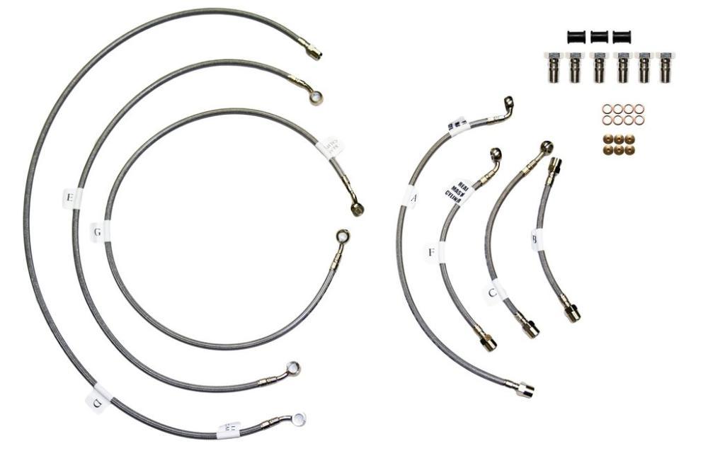 Galfer Front & Rear Stainless Braided Brake Line Kit