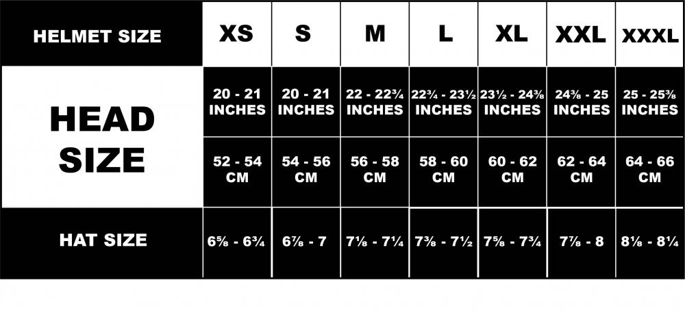 Baseball Helmet Size Chart By Age Chart Informationmotorcycle Helmet