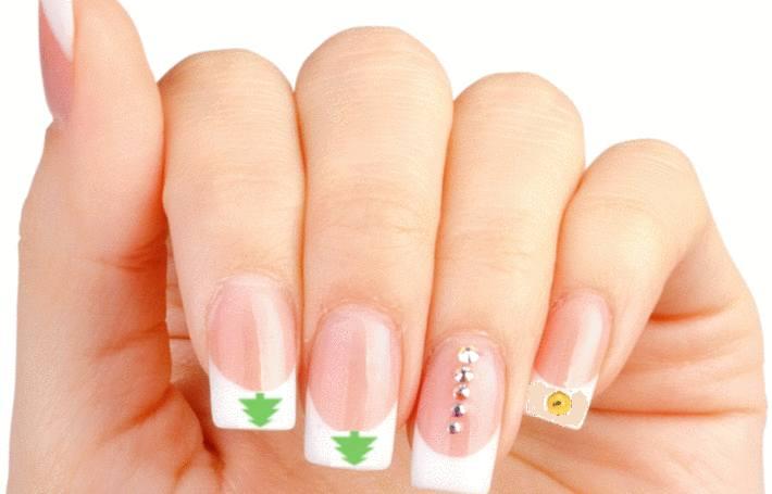 beau nail art pour noel