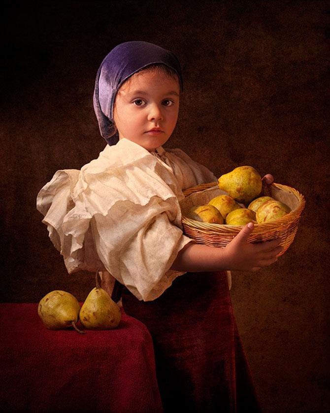 Poza 2 - Tatal care si-a fotografiat fetita in stil de tablou clasic