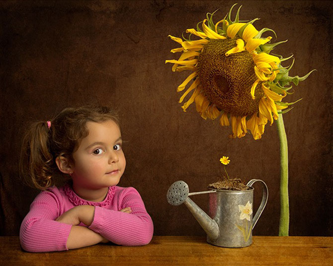 Poza 4 - Tatal care si-a fotografiat fetita<br />  in stil de tablou clasic