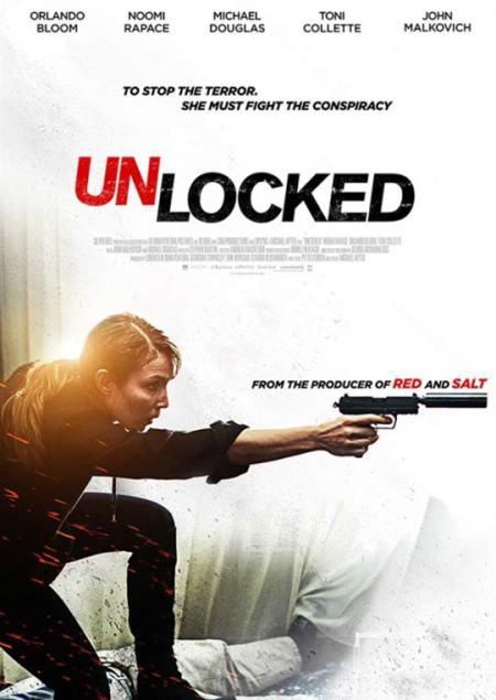 Unlocked poster met Noomi Rapace