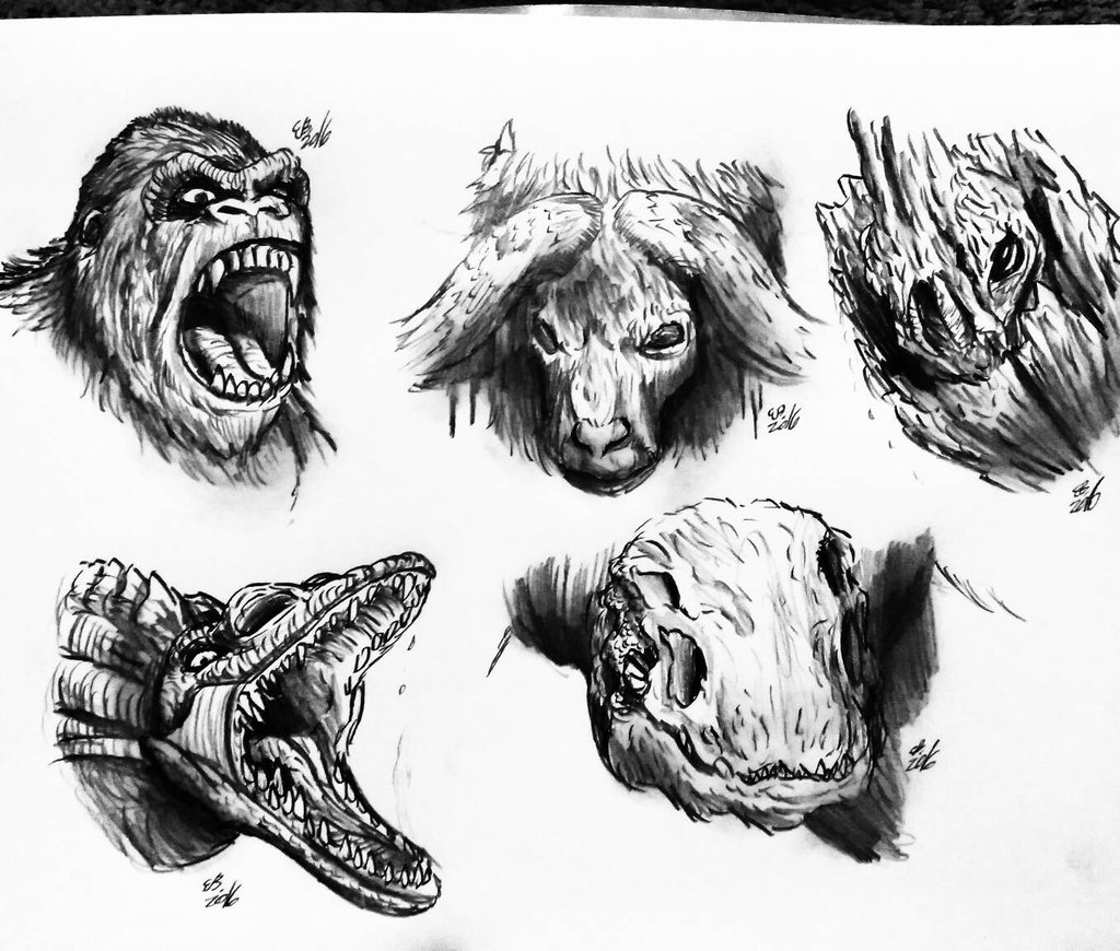 Skull Island King Kong Coloring Pages Pictures To Pin On