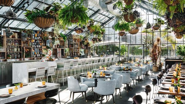 Openaire restaurant at the LINE LA