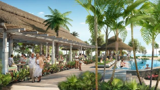 Rendering of the Coco Beach Club at Perfect Day at CocoCay