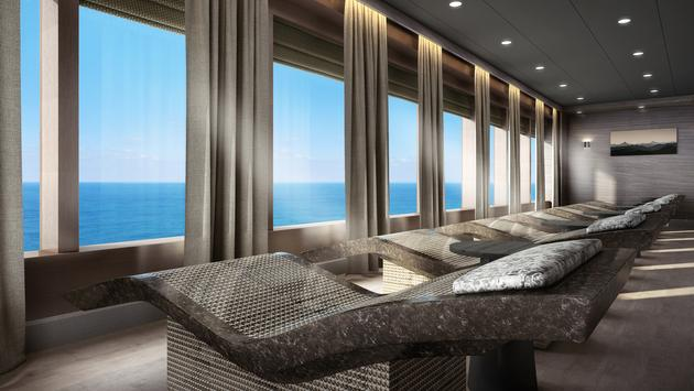 Rendering of the enhanced Mandara Spa aboard Norwegian Spirit