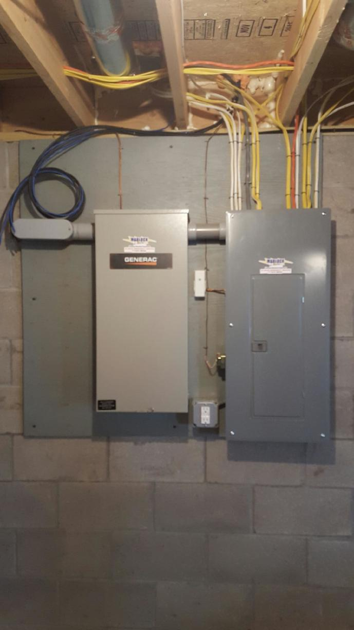 Marlock Electric Residential Electrical Services New 200 Amp Transfer Switch With Main Breaker Panel In Canandaigua Ny
