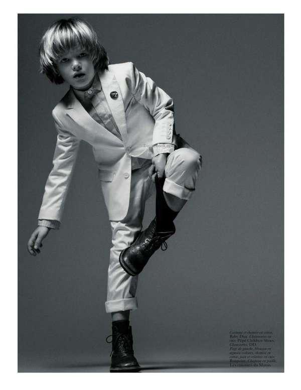 Vogue Enfants, Haute Couture, Paris, Black and White, Kid Fashion 9