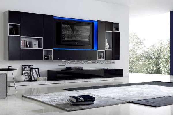 LED Home Theatre Systems  115 Modern Wall Unit by Milmueble
