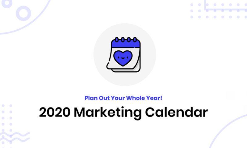 New Year Strategy Calendars : 2020 Marketing Calendar