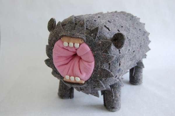 Squishy Monsters 3D Textured Textile Art from Joshua Ben
