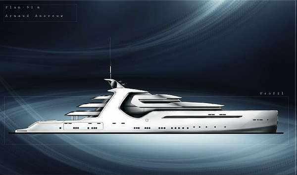 Futuristic Luxury Cruisers The AA Super Yacht By Arnaud