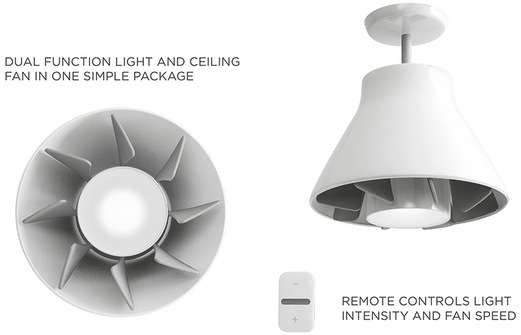 ScrewIn Ceiling Fans  AirLight by Quirky