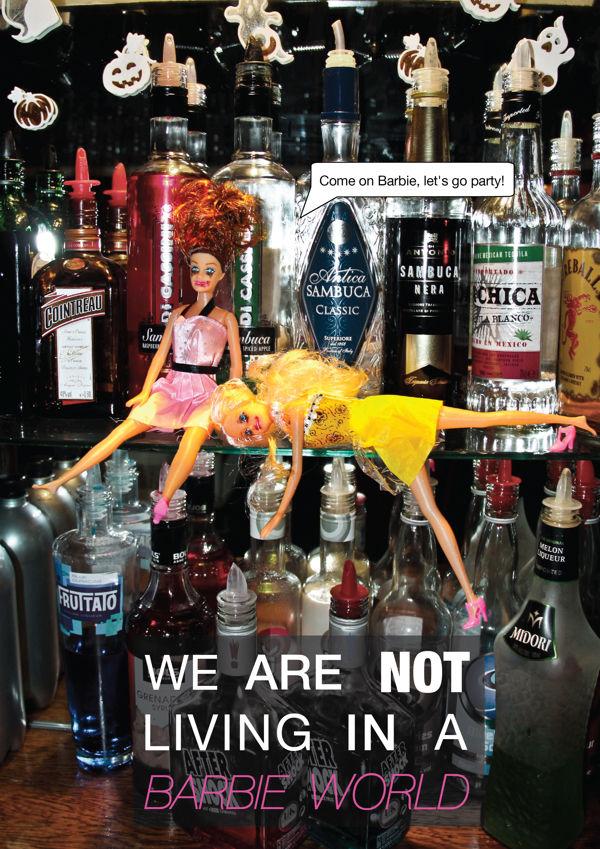 Alcohol Awareness Doll Ads  alcohol awareness