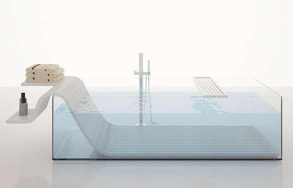 Contemporary Aquarium Soakers Alea Bathtub
