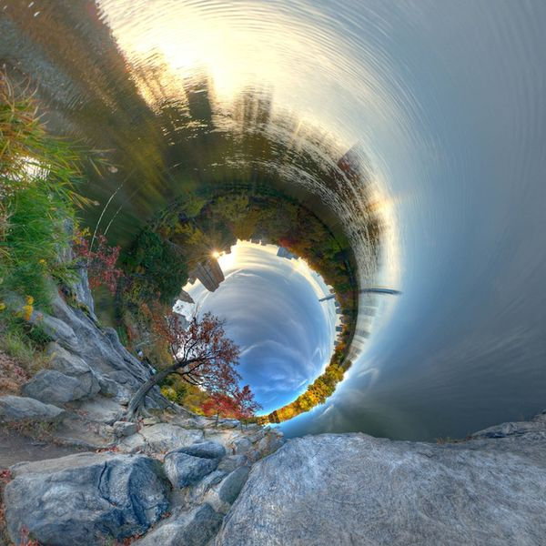 Falling Down The Rabbit Hole Wallpaper Surreally Warped Landscapes Alternative Perspectives 2