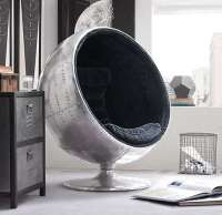 Metallic Orbital Chairs : aluminum chair