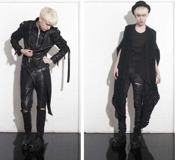 Androgynous Goth SS 09 Collection From Swedish Designer