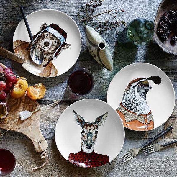 Sophisticated Animal Dishware  animal plates