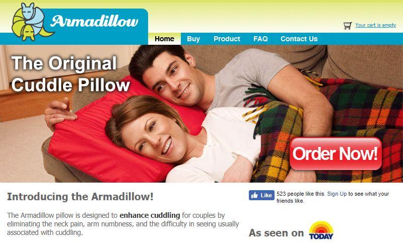 cuddle enhancing pillows armadillow