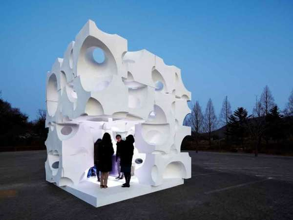Abstract Architecture Pavilions  Art Folly Cubrick by Chanjoong Kim