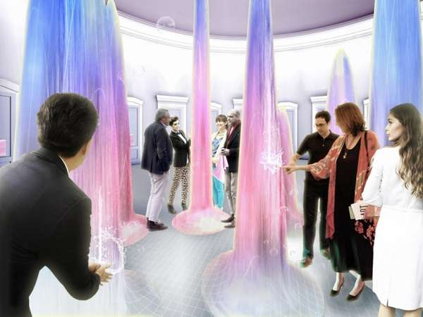 Technicolor Water Sculptures  Art Meadow Bath Hause