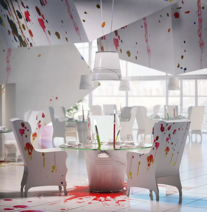 PaintSplattered Bistros  art studio design