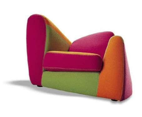 Asymmetrical Armchairs Symbol by Simone Micheli Can Be