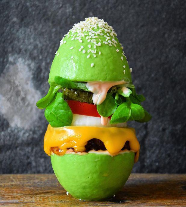 Vegan Avocado Burger Buns  avocado burger