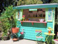 DIY Bar Shacks : backyard bar