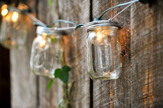 Mason Jar Lighting  backyard lights