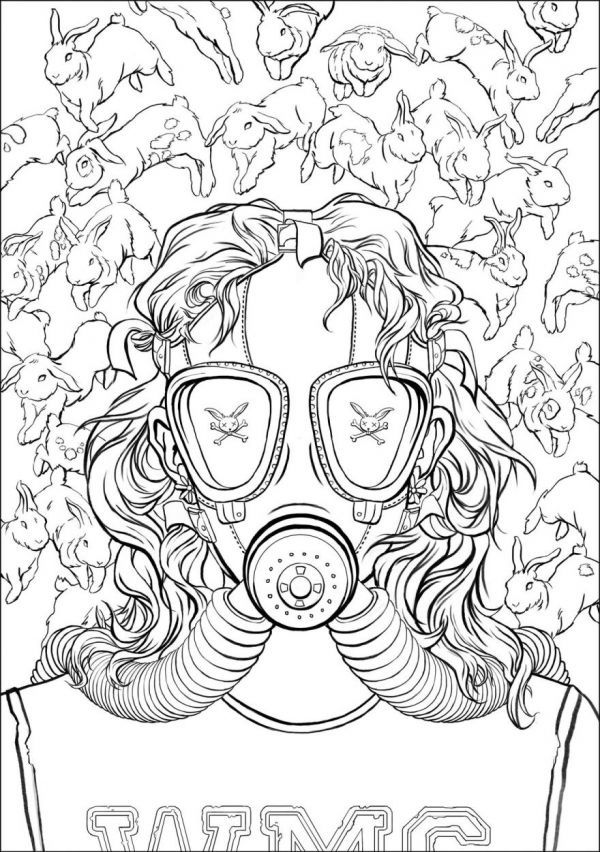 Author Coloring Books : Bait by Chuck Palahniuk