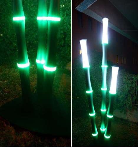LED Bamboo Lights Sevcan Yardims Sustainable Outdoor