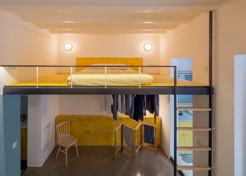 Cheerfully Upcycled Apartments  barcelona apartment