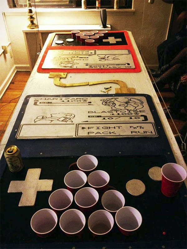 Video Game Drinking Tables Beer Pong Table