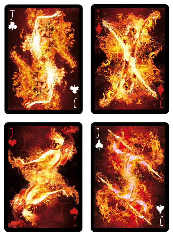 Collectable Pyromaniac Playing Cards Bicycle Playing Cards