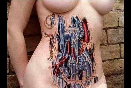 3d body ink biomechanical tattoos