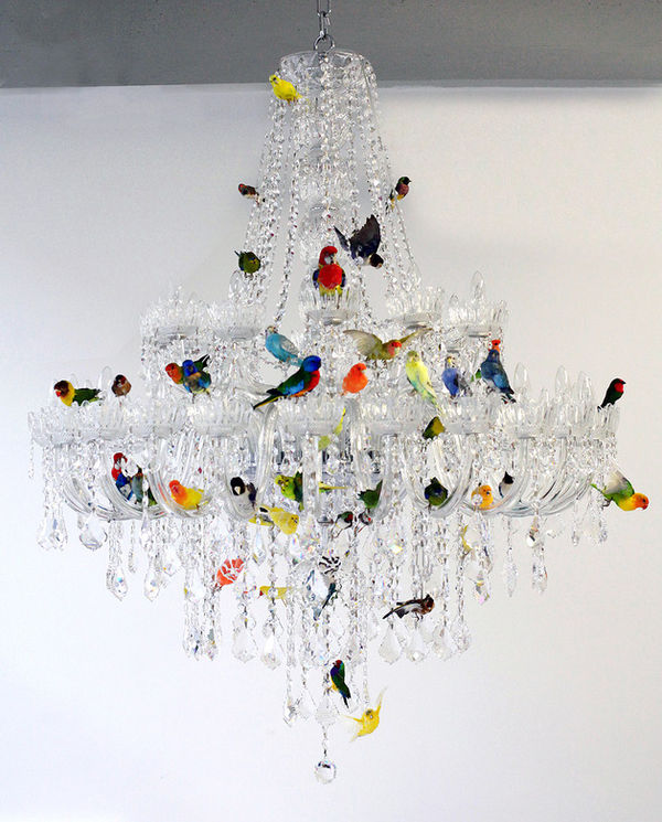 Colorful Avian Infused Chandeliers