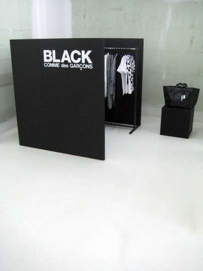 Corner Pop Up Shops Black Comme Des Garcons Pop Up Store