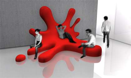 Paint Splash Furniture Blob Sofa by David Genin is